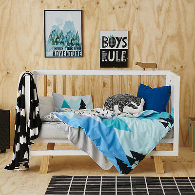 Adairs Kids Summer Hike Cot Quilt Cover Set - RRP $99.95