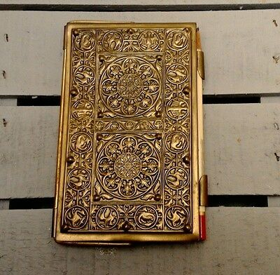Vintage The Metal Works Co Rochester Ny Bridge Card Tally Book Holder