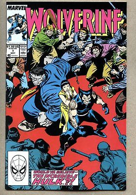 Wolverine #7-1989 nm- 7th issue of the 1st regular series / Hulk Jessica Drew