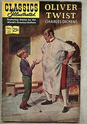 Classics Illustrated #23-1968 gd/vg 16th edition Dickens Oliver Twist