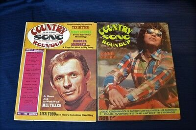 Two 1975 COUNTRY SONG ROUNDUP Magazines Ronnie Milsap Mel Tillis