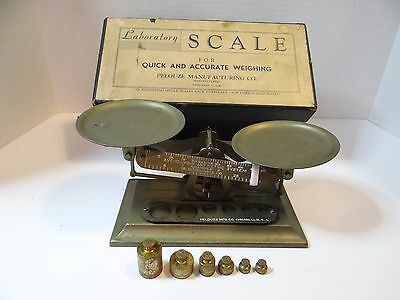Vintage Laboratory Scale & Weights in original box