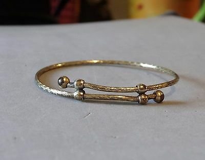 Antique Victorian Gold Filled Baby Bangle Bracelet Bypass Style 1800s Small Size