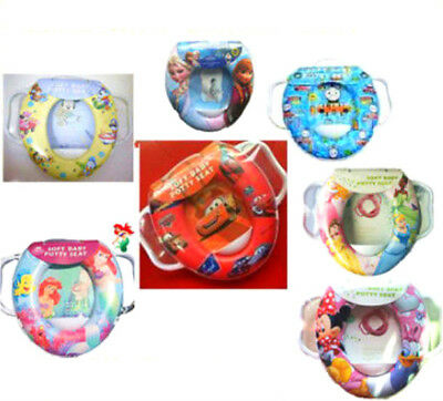 Child Toddler Kids Safety Seats Soft Toilet Training Trainer Potty Seat Handles