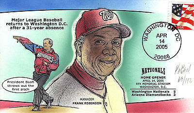 Bevil H&M BASEBALL RETURNS TO DC WASHINGTON NATIONALS HOME OPENER 2005 Sc 3637