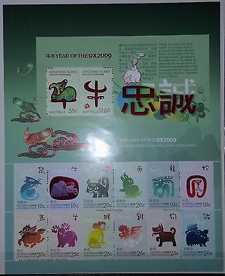 Christmas Island Australia 2009 Year of the Ox Sheetlet MNH 14 stamps