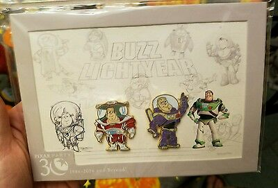 WDW - Pixar Party 2016 - Buzz Lightyear Concepts Two-on-a-Card LE 500 Disney Pin