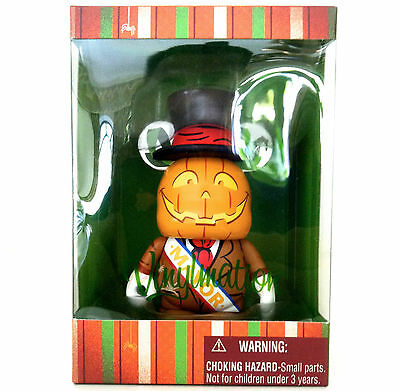 "Disney Vinylmation 3"" Scarecrow Mayor Mickey's Halloween Not So Scary Pumpkin"