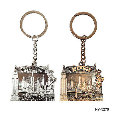 12PCS New York NYC Landmarks Key chain Metal Key Ring  Bundle Souvenir Gift #276
