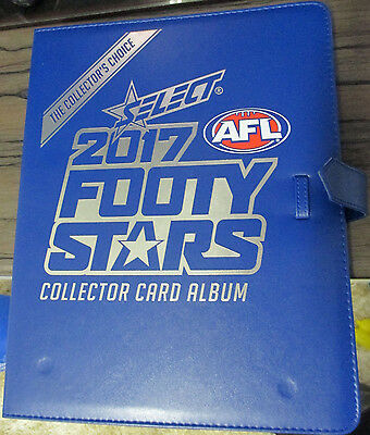 AFL Select Footy Stars 2017 COMPLETE BASE SET IN FOLDER 221 CARDS IN FOLDER