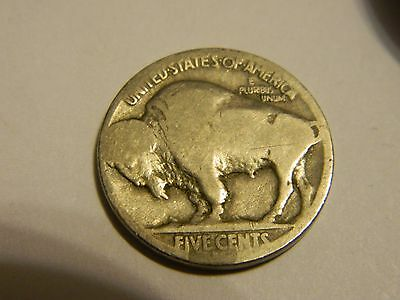 1915 D Buffalo Nickel Acid Recovered Date