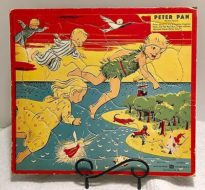 1940's Peter Pan Frame Tray Puzzle Inlaid by Playtime House