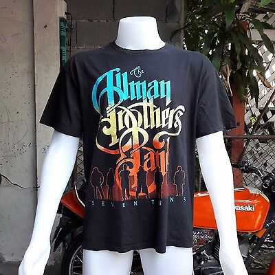 The Allman Brothers Band Size XL t shirt Vintage 90s tour Southern Rock Blues.