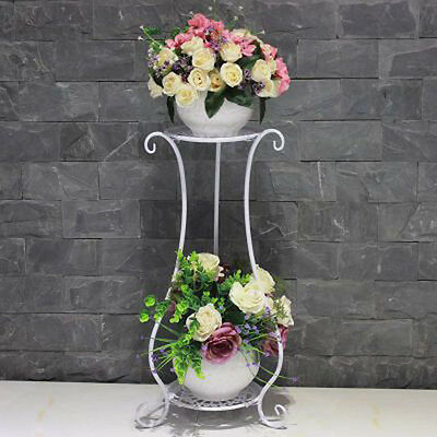 New arrive elegant white Black Metal Plant Stand / Flower Pots Shelf Unit