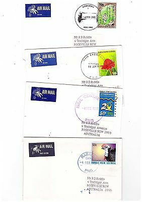 Papua New Guinea 1997/2000 Group of Commercial Covers   ( 4 Covers )