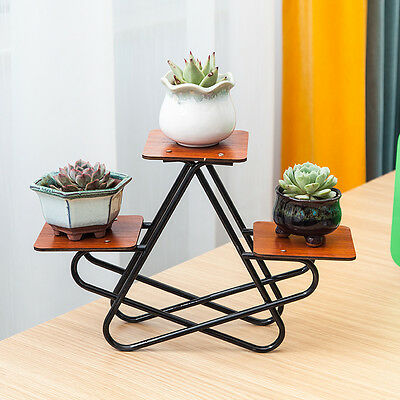 New arrive elegant white Black Metal Plant Stand / Mini flower Pots Shelf Unit