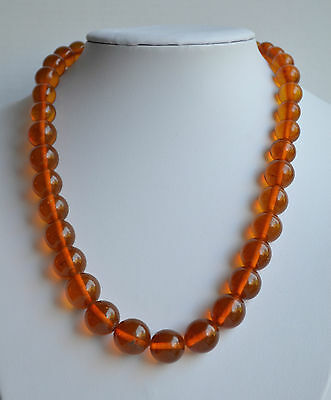 vintage NATURAL butterscotch BALTIC AMBER NECKLACE graduated 43 GR 20'' INCHES
