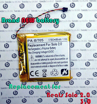 New Replacement Battery for Dre Beats Solo 2 and Solo 3  AEC353535