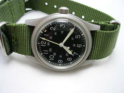 1987 issued US military Hamilton men's watch,Vietnam War GG-W-113 Specifications