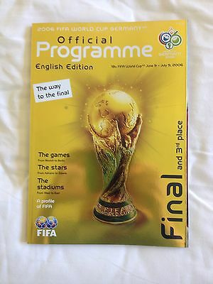 WORLD CUP FINAL PROGRAMME 2006  English Edition Italy v France
