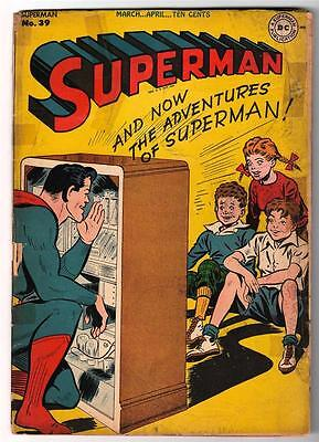 DC Comics SUPERMAN  Golden age #39 2.5  Golden age  G+ 1946
