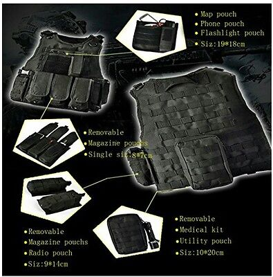 YAKEDA Tactical Vest Outdoor Equipment Army/Military Paintball Law Enforcement