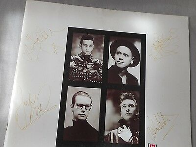 "DEPECHE MODE ""Music for the Masses"" tourbook 1988 signed 4 members rare"