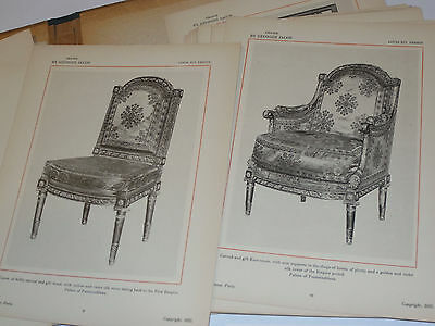 Chairs By Georges Jacob: Louis Xv, Louis Xvi And Revolutionary Periods 1922 Book