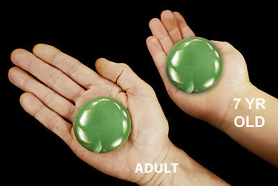 "Palm Stone Green Aventurine 2 1/2"" Chakra Massage Polished Rock Mineral Specimen"