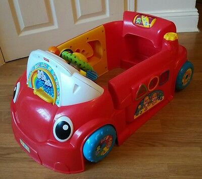 Fisher Price Laugh n Learn Smart Stages Crawl Around Car driving baby toy music