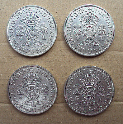 George VI silver two Shillings - choose a date