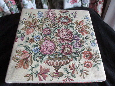 Vintage French Tapestry Covered Box, Sewing, Trinkets,  Fripperies