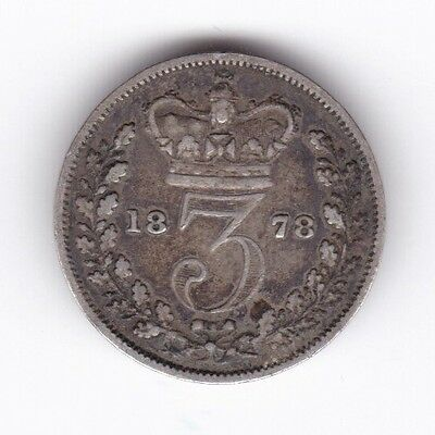 1878 Victoria Threepence***Collectors***Silver***