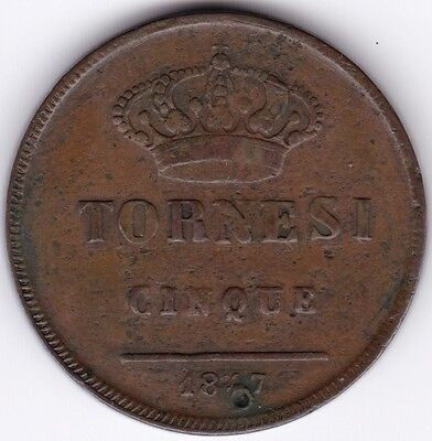 1847 Italy 5 Tornesi***Collectors***