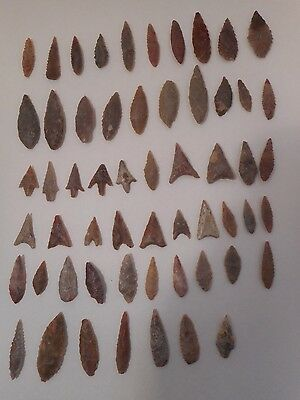 Neolithic Mixed African Arrowheads ~ Lot of 57 High Grade Points