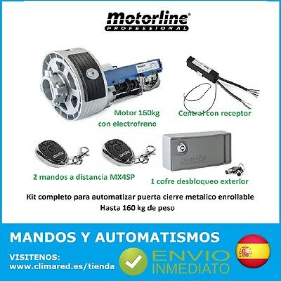 Kit Completo Motor Enrollable 160Kg Persiana Metalica Automatica Rolling Sp