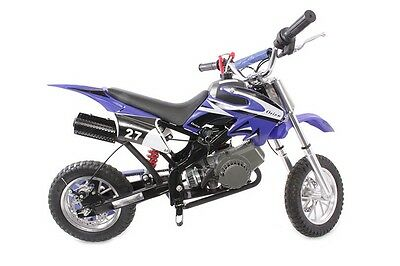 Yamaha style Scrambler Mini Moto Pocket Bike Hawkmoto Dirt Devil  49cc - Blue