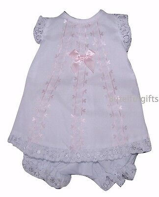 Baby Girls Spanish Style Lace & Bow Angel Set 0-12 Mth