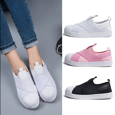 New Women's Fashion Leather Casual Lace Up Sneakers Trainer Shoes
