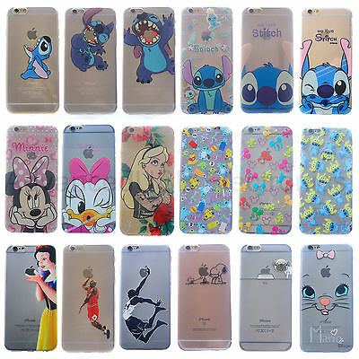 Coque Housse Silicone TPU Ultra-Fine Stitch Cartoon Dog Disney Pour iPhone 6S/7