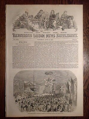 Illustrated London News, supplement, 18 June 1853, SLAVE TRADE, PHOTOGRAPHY