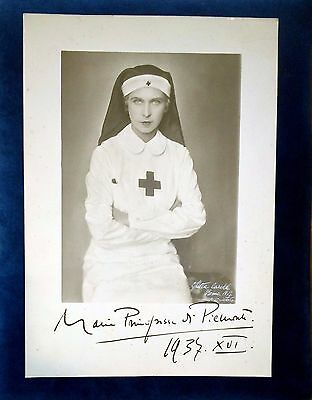 Marie José of Belgium by Ghitta Carell Roma 1937 genuine signature antique photo