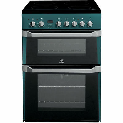 BRAND NEW Indesit ID60C2N 60cm Electric Cooker with Double Ovens & Ceramic Hob