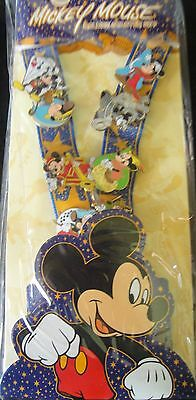 Disney Mickey Through the Years Deluxe Starter Set (Lanyard & 8 Pins) New+Sealed