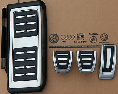 New Genuine 4Pc Anti Slip Gas Brake,foot Rest Mt Pedal Set For Vw Golf Mk7 Lhd