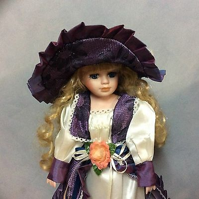 36cm Beautiful Porcelain Doll - Excellent Condition with stand