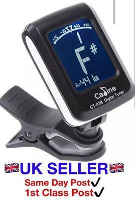 Clip-on Guitar Tuner For Electronic Digital Chromatic Bass Violin Ukulele LCD