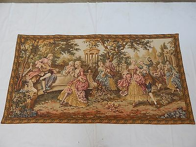 Vintage French Beautiful Scene Tapestry 204X107cm (T1154)