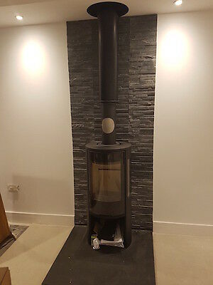 Natural Blue / Black Slate hearth Calibrated 30mm in thickness  900 x 600