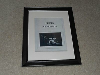 "Framed Joy Division Closer 1980 Album Ad Print New Order 14"" by 17"""